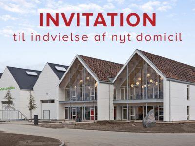 Invitation til indvielse af vores nye domicil